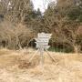 虫沢支沢の太尾沢の左股と右股から高松山
