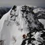 冬季西穂高、山荘泊りでピラミッドピークを二往復!