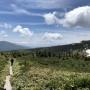 西吾妻山トレッキング リフトから微妙にピストンコース