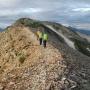 後ろ立山 北半分を縦走するルート